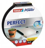 Tesa Extra Power Perfect Gewebeband 25 m x 19 mm schwarz