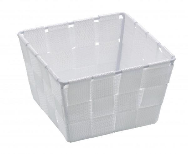 Wenko Aufbewahrungskorb Weiss Mini quadratisch