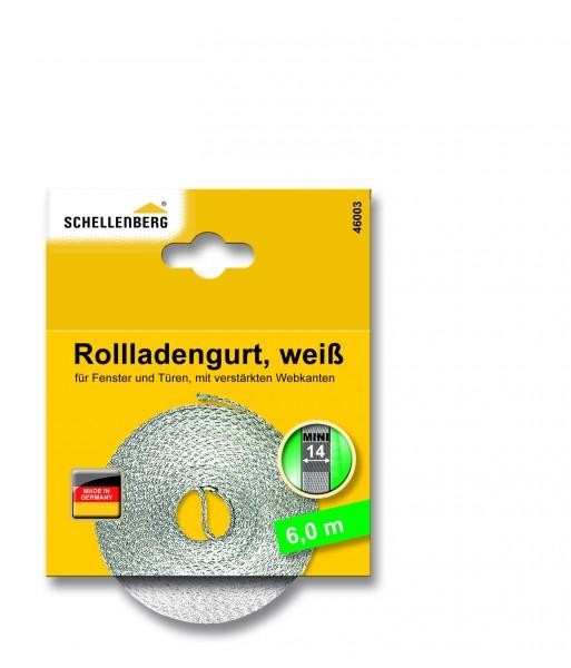Rollladengurt 14 mm 6,0 m weiss