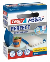 Tesa Extra Power Perfect Gewebeband 2,75 m x 19 mm blau