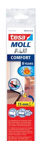 Tesamoll Comfort Türdichtschiene 1 m x 40 mm weiss