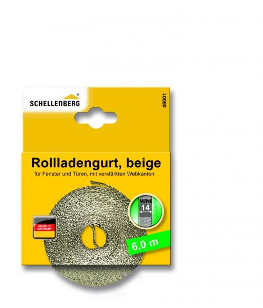 Gurtband 14 mm/6,0 m Mini beige