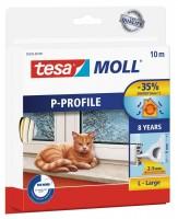 Tesamoll Classic P-Profil 10 m weiss, für Spalten 2-5 mm