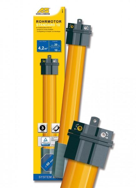 Rohrmotor Maxi Standard 10Nm für Kunststoffrollläden mit max. 20kg Gewicht