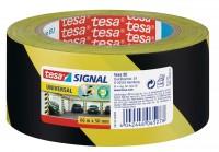 Tesa Signal Uni. Markierungsklebeband 66 m x 50 mm gelb-schwarz