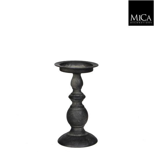 Mica Kerzenständer Tripoli schwarz 20cm