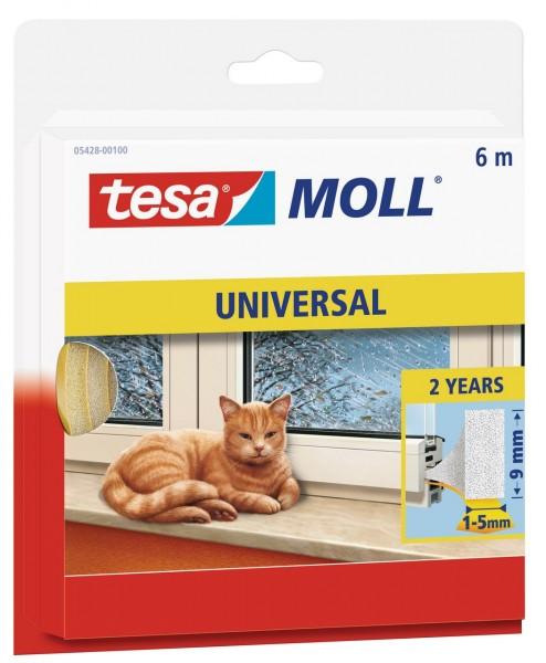 Tesamoll Universal Schaumstoff 6 m x 9 mm weiss, für Spalten 1-5 mm