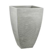 Jelenia Plast Blumenkübel Rillenoptik 40x40x60cm steingrau