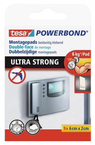 Tesa Powerbond Ultra Strong Pads 9 Stück