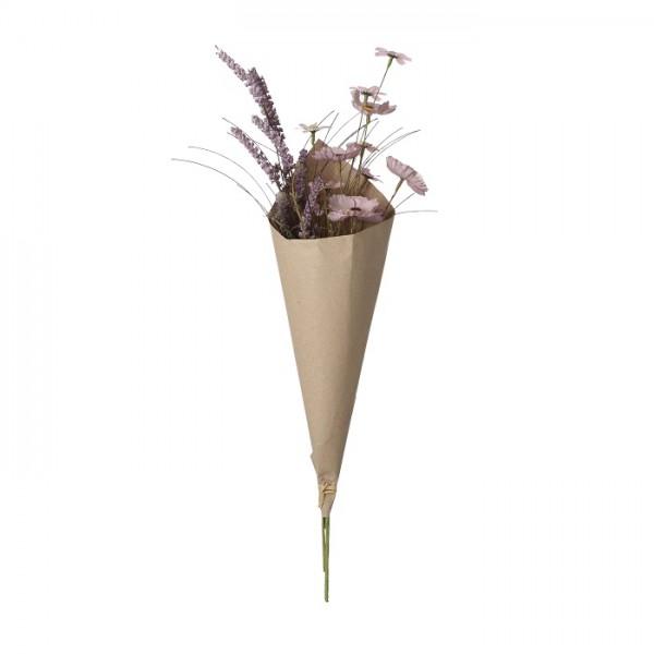 Mica Blumenstrauß violett Papier
