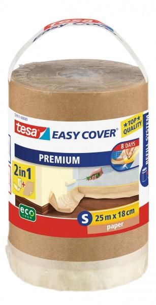 Tesa Easy Cover Premium S - Abdeckpapier 25 m x 180 mm Nachfüllrolle