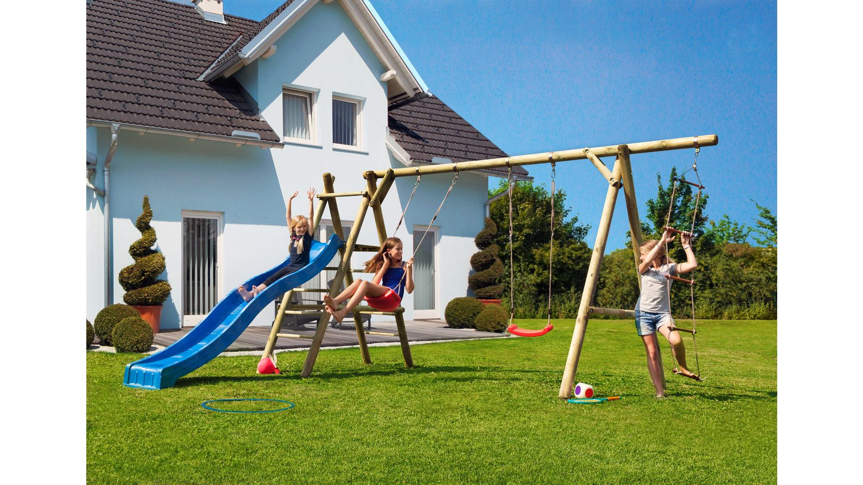 Mr gardener kinderspielanlage arno b425xt190xh220 cm for Pool hagebaumarkt