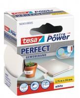 Tesa Extra Power Perfect Gewebeband 2,75 m x 38 mm weiss