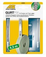 Gurtband Reparaturset 14 mm/4,3 m grau