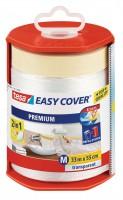 Tesa Easy Cover Premium M - Abdeckfolie 33 m x 550 mm Abroller, gefüllt