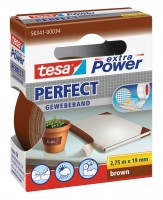 Tesa Extra Power Perfect Gewebeband 2,75 m x 19 mm braun