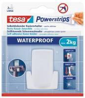 Tesa Powerstrips Waterproof Rasierhalter Wave, Weiss