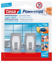 Tesa Power Strips Haken small Konvex Metall-Kunststoff