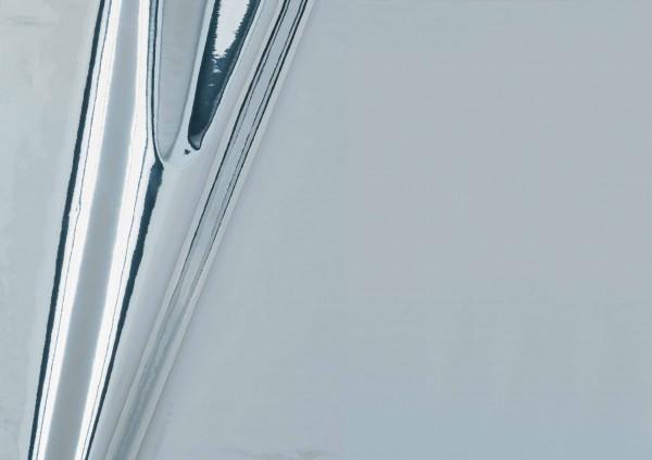 Selbstklebefolie 45x150 cm Metallic hochglanz silber