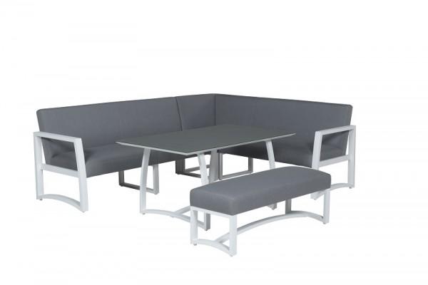 GI Dining-Lounge Aureum weiß-grau