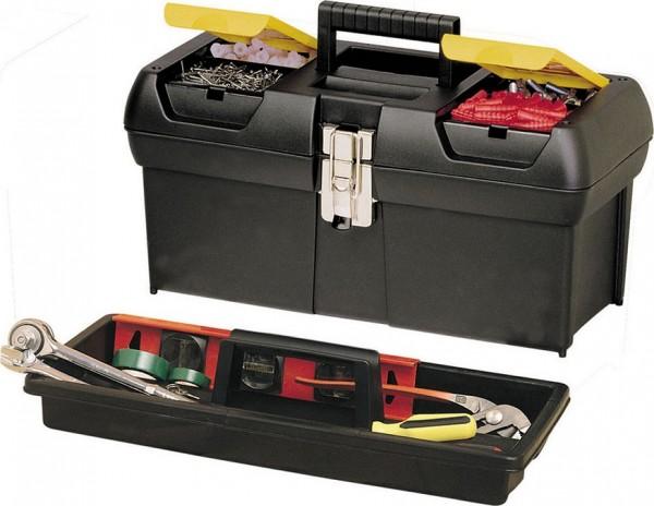 Werkzeugbox Series 2000 16 Zoll schwarz-gelb m. Metallschliessen