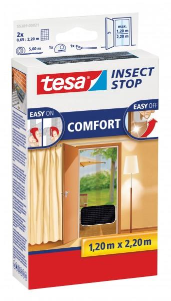 tesa Fliegengitter Comfort für Türen, 0,65x2,2m, anthrazit