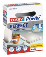 Tesa Extra Power Perfect Gewebeband 2,75 m x 19 mm weiss