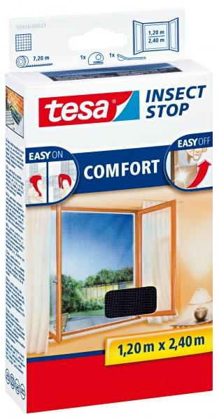 tesa insect stop comfort Fliegengitter 1,2x2,4m anthrazit