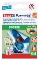 Tesa Powerstrips Poster 20 Strips, bis zu 200g