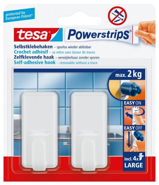 Tesa Powerstrips Haken Large Classic weiss, max. 2Kg