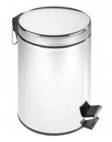 Exclusiv Treteimer 5 Liter Inhalt Edelstahl