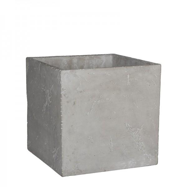 Mica Übertopf Jimmy Beton quadratisch 10x10cm