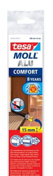 Tesamoll Comfort Türdichtschiene 1 m x 40 mm braun
