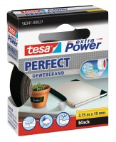 Tesa Extra Power Perfect Gewebeband 2,75 m x 19 mm schwarz