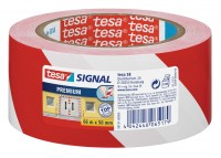 Tesa Signal Premium Markierungsklebeband 66 m x 50 mm rot-weiss