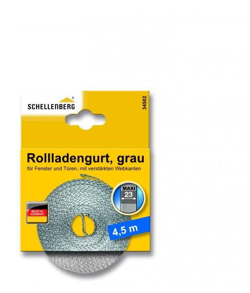 Gurtband 23 mm/4,5 m Maxi grau