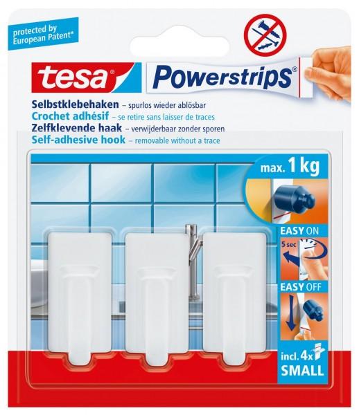 Tesa Powerstrips Haken Small Classic weiss, max. 1Kg