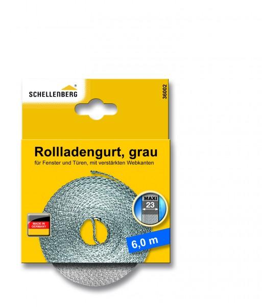 Gurtband 23 mm/6,0 m Maxi grau