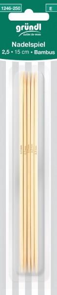 Gründl Nadelspiel Bambus 2,5mm 15cm