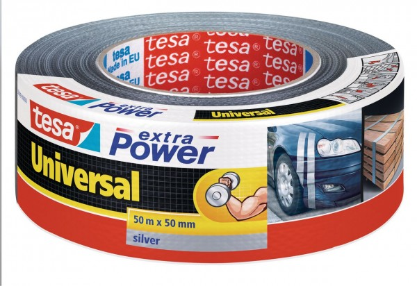 Tesa Extra Power universal 50 m x 50 mm silber