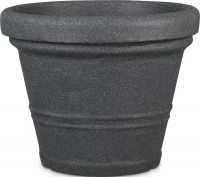 Casaya Blumentopf Cremona schwarz 45cm