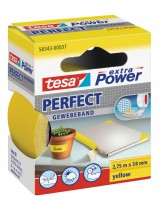 Tesa Extra Power Perfect Gewebeband 2,75 m x 38 mm gelb