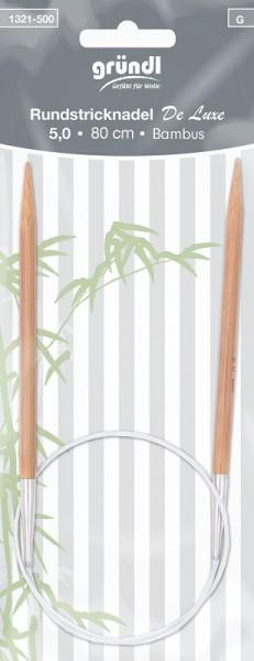 Gründl Rundstricknadel Bambus 80cm 5,00mm