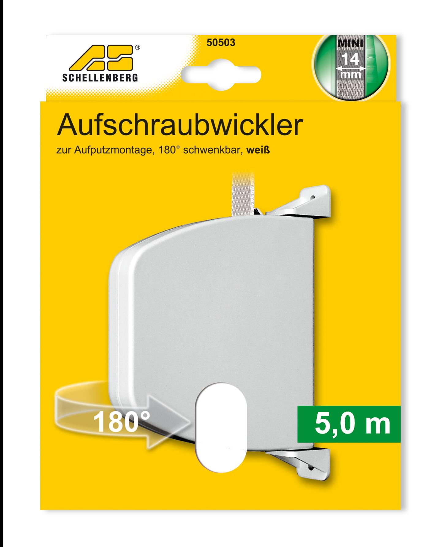 Aufschraubwickler mini 5 0 m gurt schwenkbar weiss for Hagebaumarkt pool prospekt