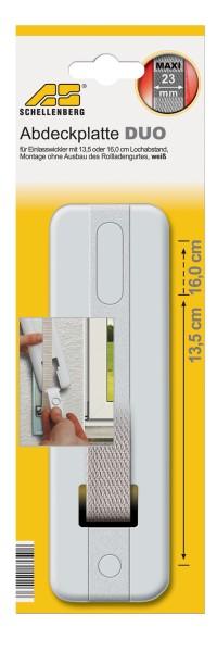 Abdeckplatte Duo 13,5-16,0 cm weiss