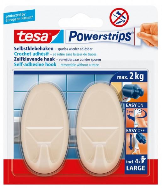 Tesa Powerstrips Haken Large Oval beige, max. 2Kg