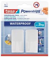 Tesa Powerstrips Waterproof Haken Wave, weiss