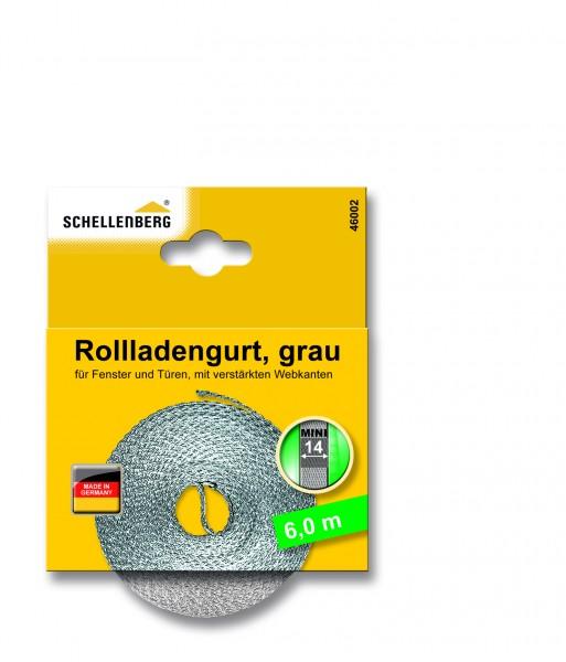 Gurtband 14 mm/6,0 m Mini grau