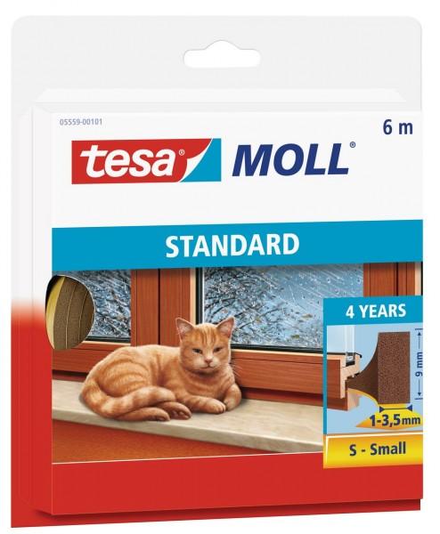 Tesamoll Standard I-Profil 6 m braun, für Spalten 1-3,5 mm