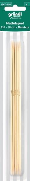 Gründl Nadelspiel Bambus 2,5mm